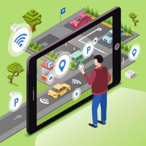 در حال کنترل و مدیریت پارکینگ به صورت هوشمند